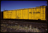 Side view of D&amp;RGW refrigerator car #157<br /> D&amp;RGW