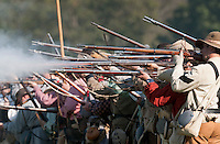 NWA Democrat-Gazette/BEN GOFF @NWABENGOFF<br /> Confederate States of America fire on the Union army on Friday Sept. 25, 2015 during the Battle of Pea Ridge Civil War reenactment at Webb Farm near Pea Ridge. The event continues with battle reenactments at 2:00p.m. on Saturday and at 11:00a.m. Sunday.