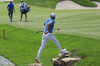 Dustin Johnson (USA) in action during the third round of the Northern Trust played at Liberty National Golf Club, Jersey City, USA. 10/08/2019<br /> Picture: Golffile | Phil INGLIS<br /> <br /> All photo usage must carry mandatory copyright credit (© Golffile | Phil Inglis)