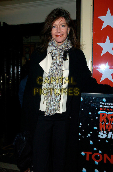"""BELINDA LANG.""""The Rocky Horror Show"""" press night, Comedy Theatre, London, UK..January 4th, 2007.half length black jacket brown beige knitted scarf.CAP/CAN.©Can Nguyen/Capital Pictures"""