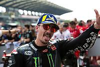 3rd November 2019; Sepang Circuit, Sepang Malaysia; MotoGP Malaysia, Race Day;  The number 12 Monster Energy Yamaha rider Maverick Vinales wins the race - Editorial Use