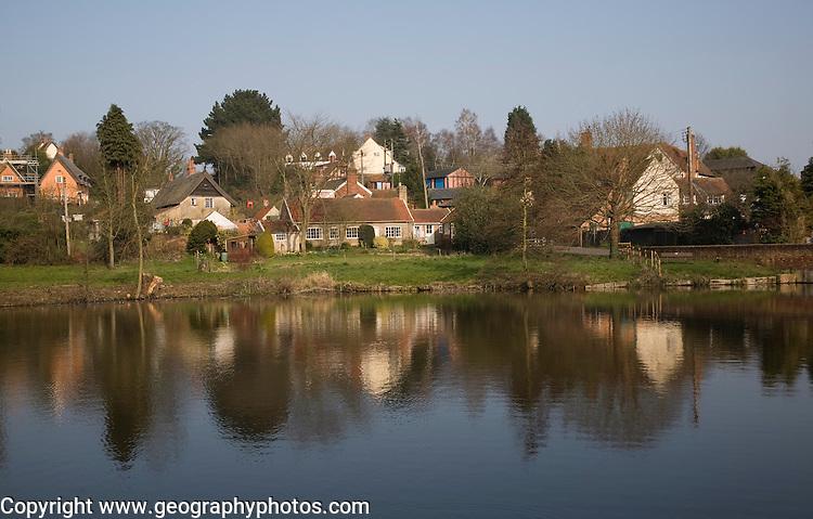 Polstead village and pond, Suffolk, England