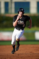 Pittsburgh Panthers first baseman Caleb Parry (6) running the bases during a game against the Siena Saints on February 24, 2017 at Historic Dodgertown in Vero Beach, Florida.  Pittsburgh defeated Siena 8-2.  (Mike Janes/Four Seam Images)