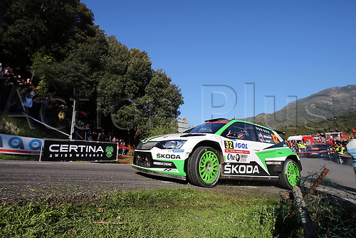 April 8th 2017, Island of Corsica; WRC Rally of Corsica, Day 2; 32- Andreas MIKKELSEN (NOR) Anders JAEGER-SYNNEVAAG (NOR) SKODA FABIA R5 RC2 R5