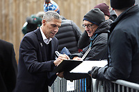 Brighton & Hove Albion manager Chris Hughton signs autographs for fans as he arrives at Turf Moor ahead of kick-off<br /> <br /> Photographer Rich Linley/CameraSport<br /> <br /> The Premier League - Burnley v Brighton and Hove Albion - Saturday 8th December 2018 - Turf Moor - Burnley<br /> <br /> World Copyright © 2018 CameraSport. All rights reserved. 43 Linden Ave. Countesthorpe. Leicester. England. LE8 5PG - Tel: +44 (0) 116 277 4147 - admin@camerasport.com - www.camerasport.com