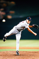 Matt Anderson of the Detroit Tigers during a game against the Anaheim Angels at Angel Stadium circa 1999 in Anaheim, California. (Larry Goren/Four Seam Images)