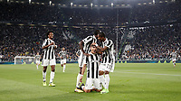 Calcio, Serie A: Torino, Allianz Stadium, 23 settembre 2017. <br /> Juventus' Paulo Dybala (c) celebrates  with his teammates after scoring during the Italian Serie A football match between Juventus and Tori0i at Torino's Allianz Stadium, September 23, 2017.<br /> UPDATE IMAGES PRESS/Isabella Bonotto