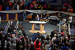 MIAMI, FL - OCTORBER 23: Former U.S. President Bill Clinton attends New Birth Baptist Cathedral of Faith International on Sunday October 23, 2016 in Miami, Florida.  ( Photo by Johnny Louis / jlnphotography.com )