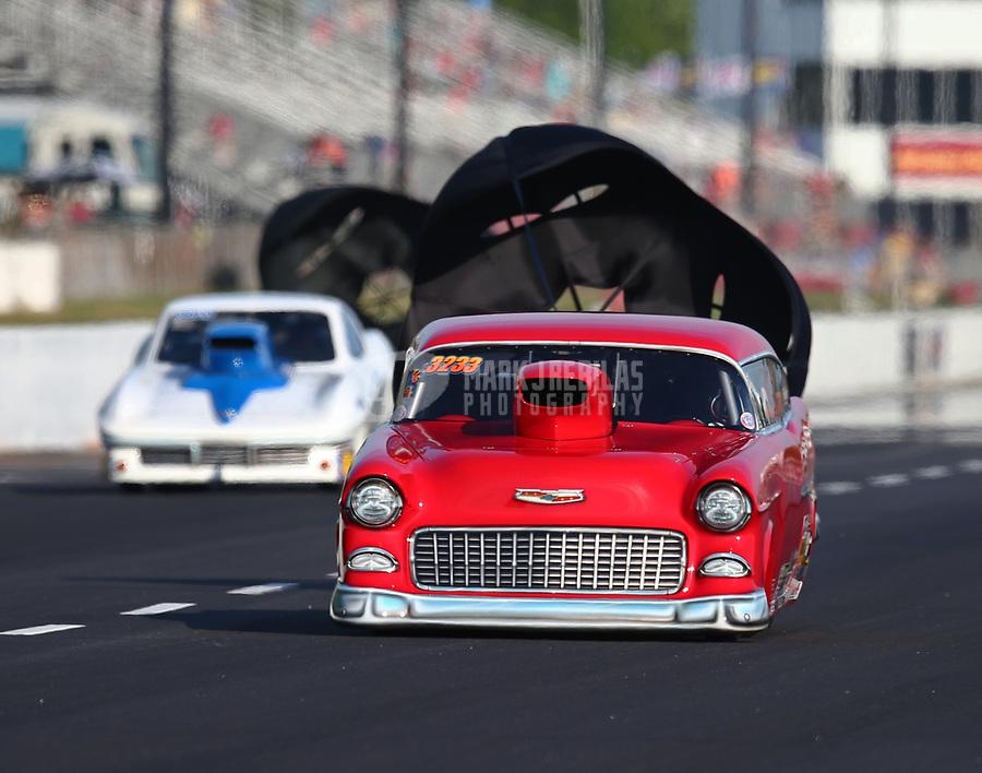 May 4, 2018; Commerce, GA, USA; NHRA top sportsman driver Bob Mandell during qualifying for the Southern Nationals at Atlanta Dragway. Mandatory Credit: Mark J. Rebilas-USA TODAY Sports