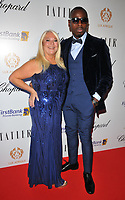 Vanessa Feltz and Ben Ofoedu at the Lux Afrique gala dinner, Claridge's Hotel, Brook Street, London, England, UK, on Sunday 01 October 2017.<br /> CAP/CAN<br /> &copy;CAN/Capital Pictures