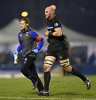 Matt Garvey of Bath Rugby leaves the field temporarily. European Rugby Champions Cup match, between Benetton Rugby and Bath Rugby on January 20, 2018 at the Municipal Stadium of Monigo in Treviso, Italy. Photo by: Patrick Khachfe / Onside Images