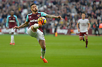 Manuel Lanzini of West Ham during West Ham United vs Burnley, Premier League Football at The London Stadium on 10th March 2018