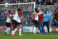 Woking celebrate at the end of the match during Woking vs Welling United, Vanarama National League South Promotion Play-Off Final Football at The Laithwaite Community Stadium on 12th May 2019