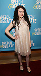 Lilla Crawford attends Broadway Red Carpet Premiere of 'Speech & Debate'  at the American Airlines Theatre on April 2, 2017 in New York City.