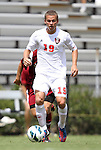 02 September 2012: NC State's Ryan Metts. The North Carolina State University Wolfpack defeated the Santa Clara University Broncos 2-1 at Koskinen Stadium in Durham, North Carolina in a 2012 NCAA Division I Men's Soccer game.
