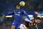 Chelsea's Reece James and Aston Villa's Jack Grealish challenge for the ball during the Premier League match at Stamford Bridge, London. Picture date: 4th December 2019. Picture credit should read: Paul Terry/Sportimage
