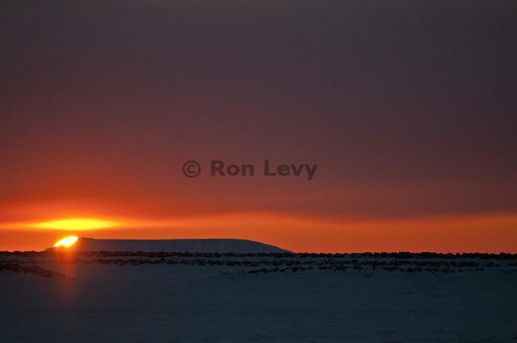 Sunset along Bering Sea, Unalakleet, Alaska