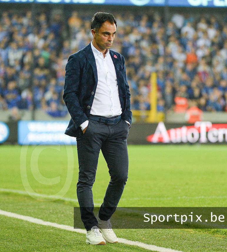 Club Brugge - KV Kortrijk : Kortrijk trainer Johan Walem <br /> Foto VDB / Bart Vandenbroucke