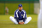 19 March 2006: Eric Gagne, pitcher for the Los Angeles Dodgers, awaits a call to the mound during a Spring Training game against the Washington Nationals at Holeman Stadium, in Vero Beach, Florida. The Dodgers defeated the Nationals 9-1 in Grapefruit League play...Mandatory Photo Credit: Ed Wolfstein Photo..