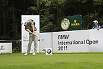 Stuart Manley (WAL) tees off on the par3 17th tee during Day 1 of the BMW International Open at Golf Club Munchen Eichenried, Germany, 23rd June 2011 (Photo Eoin Clarke/www.golffile.ie)