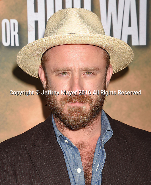 HOLLYWOOD, CA - AUGUST 10: Actor Ben Foster arrives at the screening of CBS Films' 'Hell Or High Water' at ArcLight Hollywood on August 10, 2016 in Hollywood, California.
