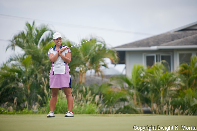 Kristina Merkle watches her putt on her way to winning the MPCC Jennie K Tournament