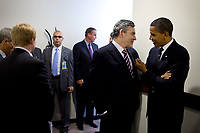 Gordon  Brown<br /> <br /> Official white house photo - editorial use only