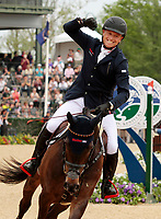 LEXINGTON, KY - April 30, 2017.  #54 Fischerrocana FST and Michael Jung from Germany win the 2017 Rolex Three Day Event for the third consecutive year at the Kentucky Horse Park.  Lexington, Kentucky. (Photo by Candice Chavez/Eclipse Sportswire/Getty Images)