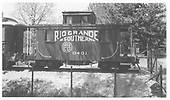 RGS caboose #0401 on display in Boulder, CO.<br /> RGS  Boulder, CO  Taken by Maxwell, John W. - 5/31/1953