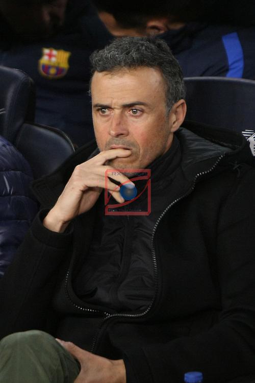 Copa del Rey 2016/2017 - Semifinal vuelta.<br /> FC Barcelona vs Atletico Madrid: 1-1.<br /> Luis Enrique Martinez.