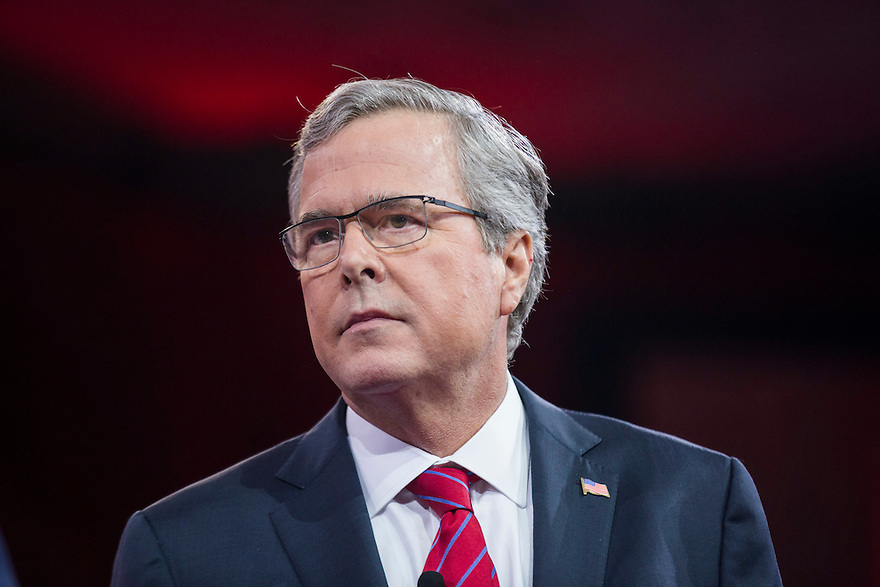 Former Florida Governor Jeb Bush speaks at the 2015 Conservative Political Action Conference (CPAC) outside Washington, DC
