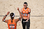 10.05.2015, Muenster, Schlossplatz<br /> smart beach tour, Supercup MŸnster / Muenster, Halbfinale<br /> <br /> Jubel Ilka Semmler, Katrin Holtwick<br /> <br />   Foto &copy; nordphoto / Kurth