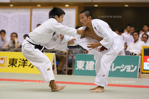 (L-R) Taichi Suyama (), Yuta Higuchi (), SEPTEMBER 12, 2015 - Judo : All Japan Juior Judo Championships Men's -55kg Final at Saitama Kenritsu Budokan in Saitama, Japan. (Photo by Sho Tamura/AFLO SPORT)