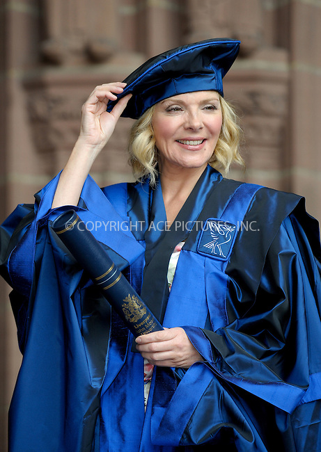 WWW.ACEPIXS.COM . . . . .  ..... . . . . US SALES ONLY . . . . .....July 12 2010, Liverpool....Actress Kim Cattrall on the steps of Liverpool Anglican Cathedral where she received an Honorary Fellowship from Liverpool John Moores University on July 12 2010 in Liverpool, England....Please byline: FAMOUS-ACE PICTURES... . . . .  ....Ace Pictures, Inc:  ..tel: (212) 243 8787 or (646) 769 0430..e-mail: info@acepixs.com..web: http://www.acepixs.com