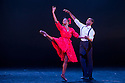 "London, UK. 29/02/2012. Ballet Back presents ""Storyville"", choreographed by Christopher Hampson, as part of ""The Ballet Black Mixed Bill featuring Storyville"". Picture shows: Cira Robinson (as Nola) and Damien Johnson (as the Lover). Photo credit: Jane Hobson"