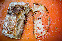 A slice loaf of bread in a kitchen in New York on Tuesday, January 26, 2016. (© Richard B. Levine)