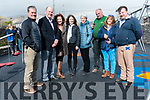 The official opening of the new Dingle playground on Friday afternoon: An Sproai committee members Mark Grealy, Councillor Seamus Cosaí Mac Gearailt, Neasa Moran, Claire Galvin, Laurence Wetterwald and Tor Cotton, with builder JJ Browne and Vincent Foley (KCC).