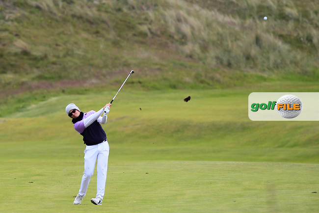 Gisli Sveinbergsson (ICE) on the 4th fairway during Round 1 of the The Amateur Championship 2019 at The Island Golf Club, Co. Dublin on Monday 17th June 2019.<br /> Picture:  Thos Caffrey / Golffile<br /> <br /> All photo usage must carry mandatory copyright credit (© Golffile | Thos Caffrey)