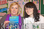 YOUTH: Debbie Keane and Nikita Fenton of the KDYS youth centre in Listowel at the Food Fair Health and Wellbeing Exhbition in the local community centre on Friday.