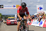 The breakaway including Adam Hansen (AUS) Lotto-Soudal summit the Cat 3 climb of Cote d'Eschdorf during Stage 3 of the 104th edition of the Tour de France 2017, running 212.5km from Verviers, Belgium to Longwy, France. 3rd July 2017.<br /> Picture: Eoin Clarke | Cyclefile<br /> <br /> All photos usage must carry mandatory copyright credit (&copy; Cyclefile | Eoin Clarke)