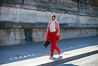 Street Style at Paris Fashion Week (Photo by Hunter Abrams/Guest of a Guest)