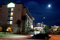 Landscape shots of airport hotels. Orlando, Florida, United States of America. October 13, 2008