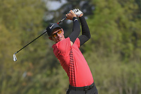 Dylan Frittelli (ZAF) watches his tee shot on 18 during round 2 of the World Golf Championships, Mexico, Club De Golf Chapultepec, Mexico City, Mexico. 3/2/2018.<br /> Picture: Golffile | Ken Murray<br /> <br /> <br /> All photo usage must carry mandatory copyright credit (&copy; Golffile | Ken Murray)