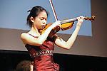 Sirena Huang, plays the violin at the John Jay Justice Award ceremony, April 5 2011.