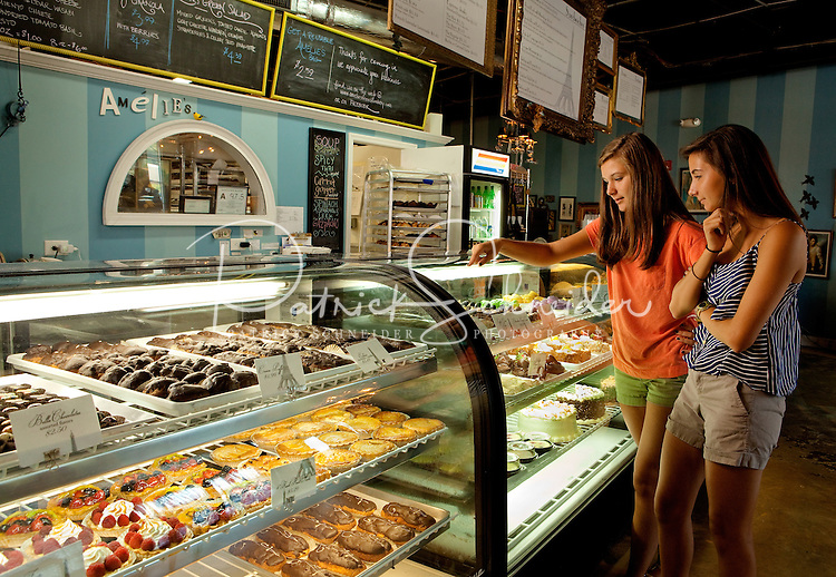 """Amelie's French Bakery in NoDa (North Davidson near downtown Charlotte) is popular for its """"Paris shabby-chic"""" decor, fresh-baked French pastries and 24-hour operations."""