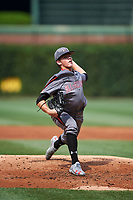 DL Hall (3) of Houston County High School in Warner Robins, Georgia during the Under Armour All-American Game presented by Baseball Factory on July 23, 2016 at Wrigley Field in Chicago, Illinois.  (Mike Janes/Four Seam Images)