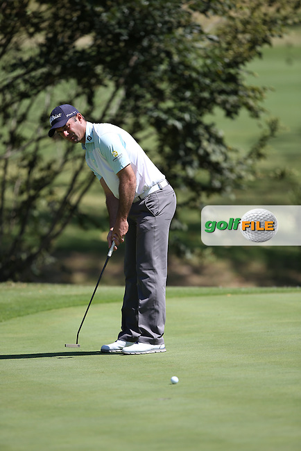 Ricardo Santos (POR) birdies the 16th during Round Two of the Tshwane Open 2015 at the Pretoria Country Club, Waterkloof, Pretoria, South Africa. Picture:  David Lloyd / www.golffile.ie. 13/03/2015