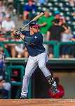 11 March 2016: Atlanta Braves infielder Jacob Schrader in action during a Spring Training pre-season game against the Philadelphia Phillies at Champion Stadium in the ESPN Wide World of Sports Complex in Kissimmee, Florida. The Phillies defeated the Braves 9-2 in Grapefruit League play. Mandatory Credit: Ed Wolfstein Photo *** RAW (NEF) Image File Available ***