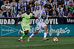 CD Leganes's Youssef En-Nesyri and FC Barcelona's Samuel Umtiti during La Liga match between CD Leganes and FC Barcelona at Butarque Stadium in Madrid, Spain. September 26, 2018. (ALTERPHOTOS/A. Perez Meca)