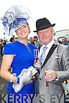 Carmel Joyce, Kilmoyley, and Sean O'Donoghue, Killarney pictured at Listowel races on Sunday.
